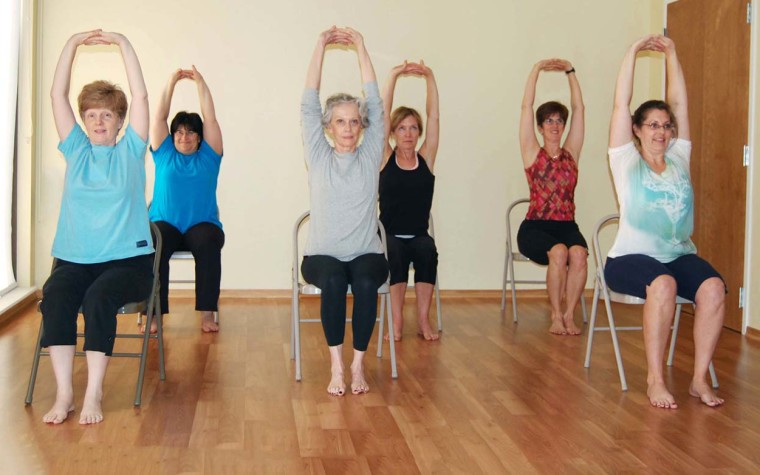 Image result for chair yoga